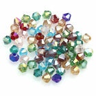 wholesale 100pcs Clarity glass crystal bicone spacer beads 4mm 14 color choose