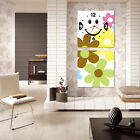 have a smily day modern art of flowers on Canvas print set of 2 ready to hang