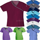 Dickies Scrubs Shirts Womens Mock Wrap Tops 15206 Medical Uniforms Junior's fit