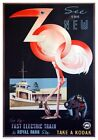 See The New Zoo, Australia. Vintage Travel Poster Print by James Northfield