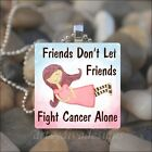 CANCER FIGHTER SURVIVOR FRIEND LOVE FRIENDSHIP GLASS PENDANT NECKLACE KEYRING