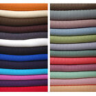 Knitted Jersey Fabric, Stretch & Rib Effect, 21 New Colours by the Metre Knit