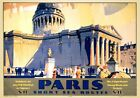 Paris, Short Sea Routes with The Pantheon. Vintage SR Travel Poster by F Griffin