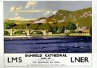 Dunkeld Cathedral River Tay, LMS/LNER Vintage Travel Poster by Norman Wilkinson