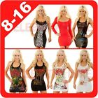 New Ladies Mini Top Dress Disco Club Cocktail Sleeveless Rhinestone Short Rock