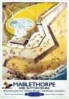 Mablethorpe & Sutton-on-Sea Lincolnshire BR ER Vintage Travel Poster by DF Blake