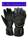 Textile Poly Leather Waterproof Lined padded Winter Motorcycle Scooter Glove 917