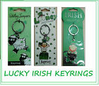 LUCK OF THE IRISH KEYRINGS SHEEP LUCKY LEPRECHAUNS IRELAND GIFT QUALITY SOUVENIR