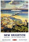 New Brighton Wallasey Merseyside, Cheshire Coast. BR (LMR) Vintage Travel Poster