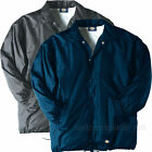 DICKIES Jackets Snap Front Nylon Jacket Water Resistant Lined 76242 Black Navy