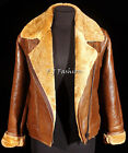 Martina Camel Brown Ladies Winter B3 WW2 Ginger Sheepskin Leather Flying Jacket