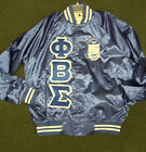 Phi Beta Sigma Old School Retro Royal Blue Satin Baseball...
