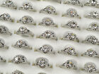 Ms.5/15PC Plating silver Handmade Crystal Rings Wedding Hot