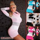 NEW SEXY SIZE 6-8-10 WOMENS JUMPER SWEATER MINI CLUB PARTY COWL NECK DRESS TOP