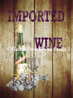 Vintage Type Imported Wine (Grapes) Original Signed Handmade Matted Picture A299