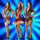 Sexy Ladies Cocktail Party Club On Fire Fringe Halter Latin Dance Dress 6-14 019