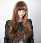 Newest Style Womens Girls Sexy Long Fashion Curly Full Wavy Hair Wig 3 Colors