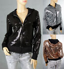 Ladies Cocktail Party Dance Club Shine Sequin Long Sleeves Top Jacket 6-14 30560