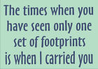 """Custom Expressions """"Footprints"""" Wall Art Quote © various decal sticker"""