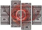 CANVAS WALL ART LARGE QUALITY ABSTRACT PRINTS CONTEMPORARY DIGITAL SMART RED