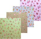 'Rosebud' Oilcloth (Wipe Clean Tablecloth) PVC Coated Cotton