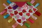 BABY TAGGY COMFORT BLANKET /  ULTRASOFT STRAWBERRY MINKY /  LOVELY GIFT