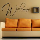 LARGE HALL WALL QUOTE WELCOME  ART STICKER DECAL TRANSFER