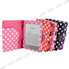 "6"" Leather Case Cover Wallet  for Amazon Kindle Kindle 4 Wifi 3g Polka dots"