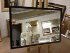 NEW MODERN DK MAHOGANY WALL AND OVERMANTLE MIRRORS - VARIOUS SIZES AVAILABLE