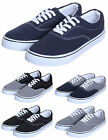NEW MENS FLAT CANVAS TRAINERS PLIMSOLES PLIMS PUMPS LACE UP TRAINERS SHOES