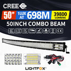 50inch Curved Cree LED Light Bar Spot Flood Combo Beam Work Driving 4WD 52