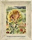 Vintage MERMAID GIRL Listening to SEA SHELL Fish Ocean Ship Coastal ART PRINT