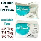 Anti-Allergy Cot Bed Duvet Quilt , Cot Pillow, Nursery, Baby, Toddler, All Togs