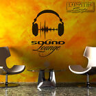 Wandtattoo Wandaufkleber Sound Lounge Headphones Music Wave DJ - WS73