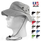 100% COTTON SAFARI HATS BUCKET WIDE BRIM FISHING BUCKET CAP MENS OUTBACK