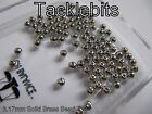 3mm SOLID BRASS BEARING BEADS NICKEL PLATED FLYING C SPINNER LURE MAKING