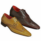 Jeffery West Muse Escobar J563 Wingcap Brogue Lace Up Shoes in Camel or Burgundy