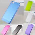 Clear 0.5mm Ultra Thin Matte Back Hard Plastic Case Cover Skin For iPhone 5 5S 6