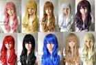 Pretty  10 color  long CURLY  multi-color wig +gift
