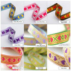 Neotrims Indian Gold Silver Bright Colours Hearts Ribbon Online By the Yard 12mm