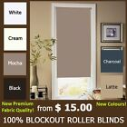 MODERN 100% BLOCKOUT BLACKOUT ROLLER BLINDS -CHOOSE COLOR and SIZE. TOP QUALITY!