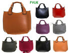 NEW LADIES WOMENS CELEBRITY LEATHER STYLE DESIGNER TOTE SHOPPER HANDBAG