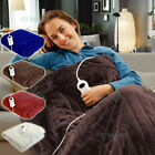 Electric Heated Throw Rug Snuggle Blanket 9 Smart Heat Settings + Timer Control