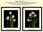 """1 or Set ANGELIQUE TULIPS """"Spring Song"""" Romantic Designer Art Prints by S.G.ROSE"""