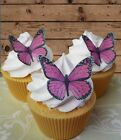 pink edible wafer butterfly cupcake cake toppers wedding birthday