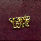 God Is Love Christian Lapel Pin Badge Gold Colour FREE P&P Qty Discount