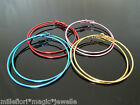 60mm Metallic Hoop Costume Earrings - Turquoise, Red Or Gold - Choose Colour