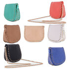 Ladies Latest Fashion Studded Casual Evening Handbag Gold Chain Faux Leather Bag