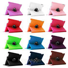 12 Colors Rotating Leather Case Stand Cover for iPad 4/3/iPad 2 9.7 Inch Tablet