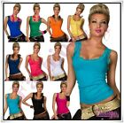 Sexy Ladies Lace Vest Top Women's Summer Casual Tank Top Size 8/10,12/14 UK